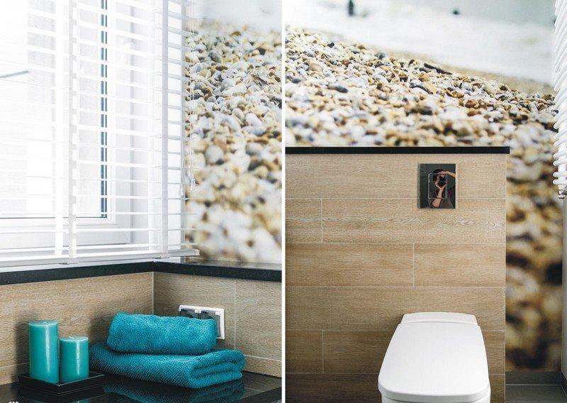 идея интерьера маленькой ванной комнаты фотообои современный дизайн фото