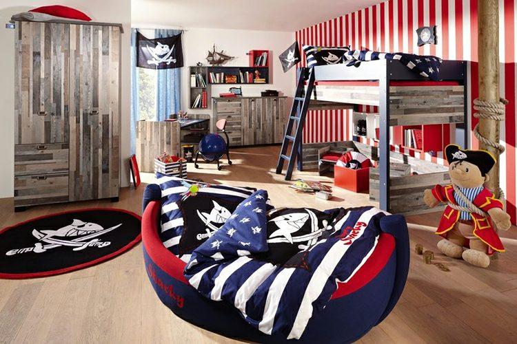 интерьер детской комнаты для двух мальчиков фото в пиратском стиле