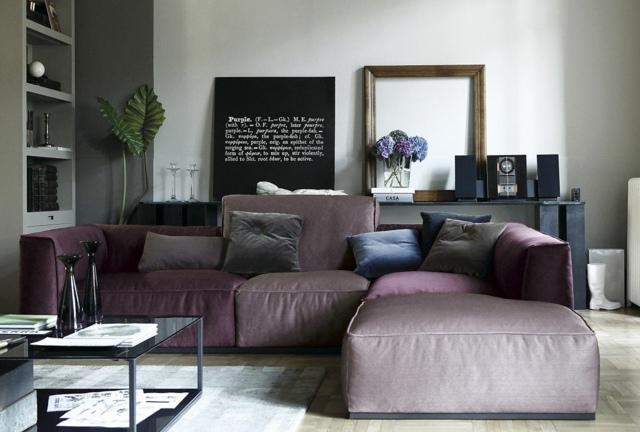 интерьер гостиной с угловым диваном фото подушки