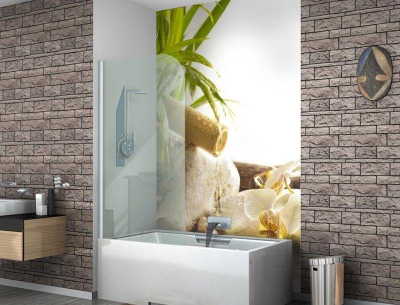 интерьер ванной комнаты фотообои орхидея фото
