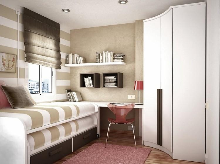 маленькая детская комната для двух девочек фото выдвижная кровать угловой шкаф