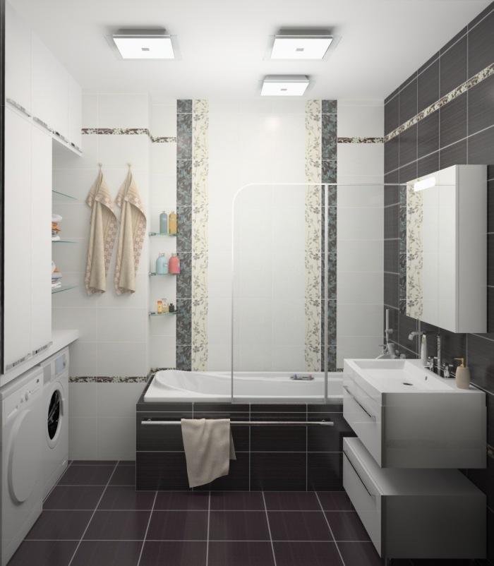 Плитка для ванной с узорами