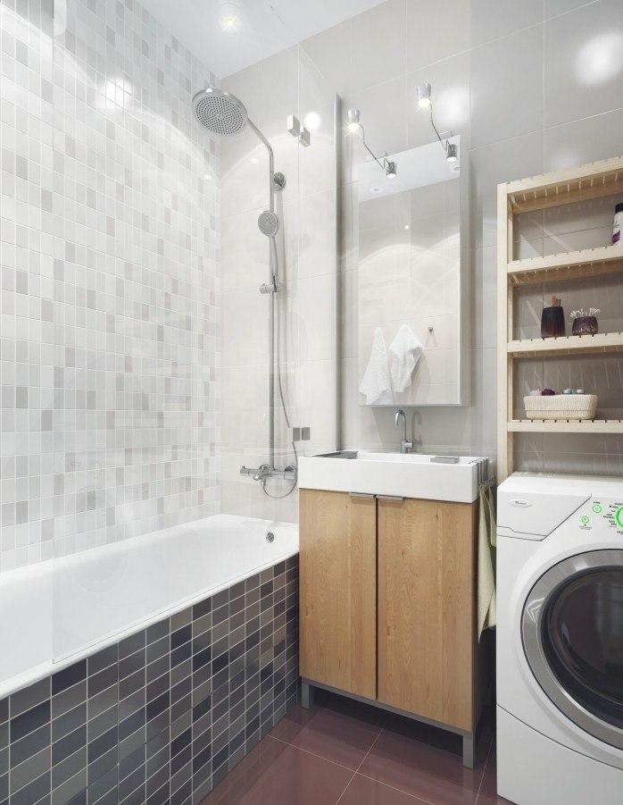 серая плитка для ванной в хрущевке мозаика