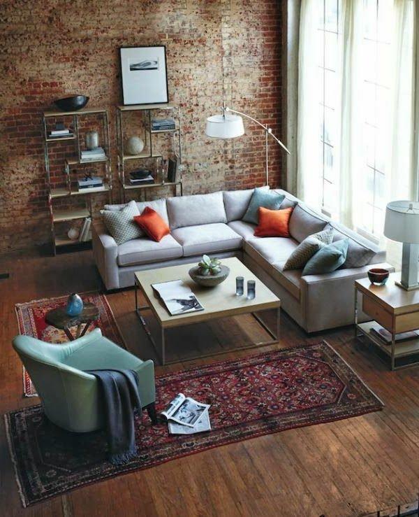 серый угловой диван фото квадратный стиль лофт