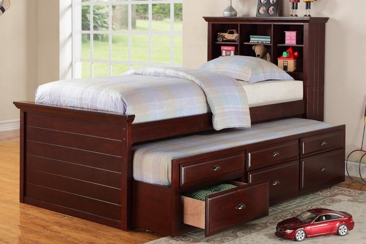 детская выдвижная кровать односпальная с ящиками для хранения фото идеи для маленькой спальни