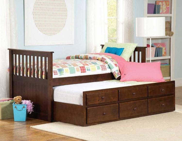 детская выдвижная кровать с ящиками для хранения фото идеи для маленькой спальни