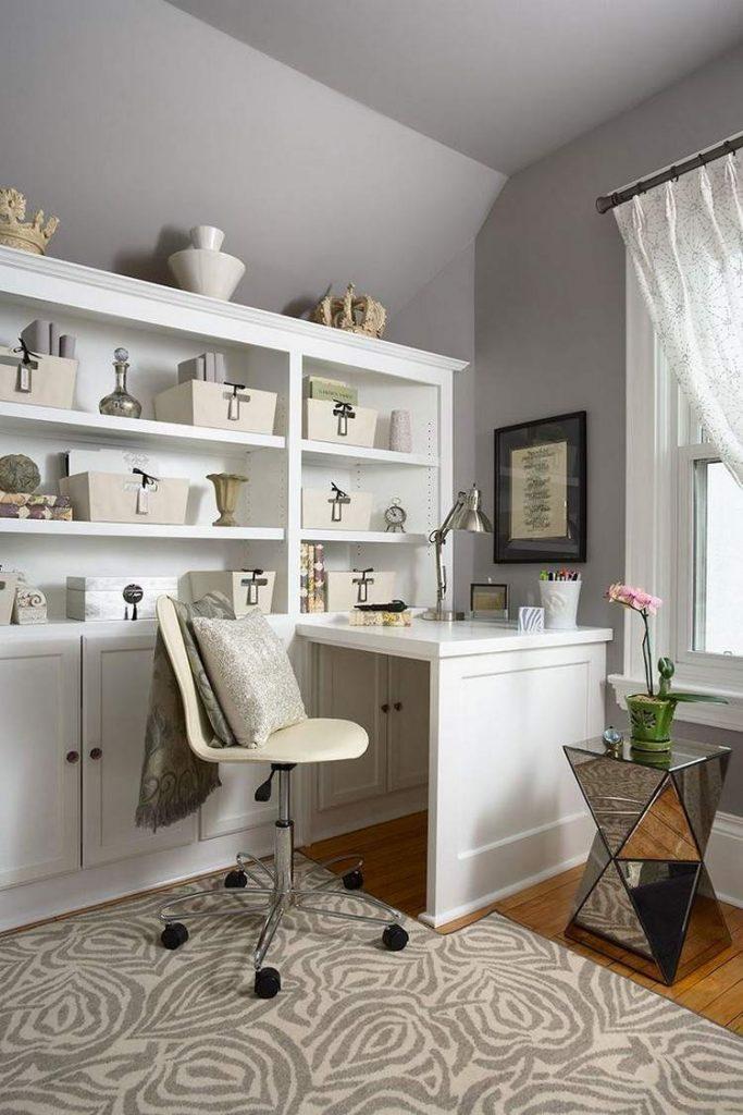 дизайн интерьер рабочей комнаты фото прованс современный стиль белый