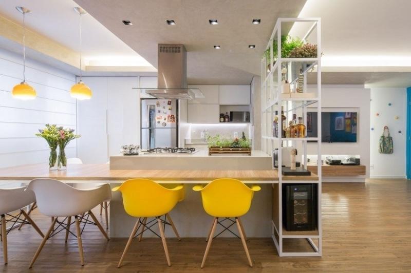 интерьер гостиная кухня столовая фото современный дизайн кухонный островок