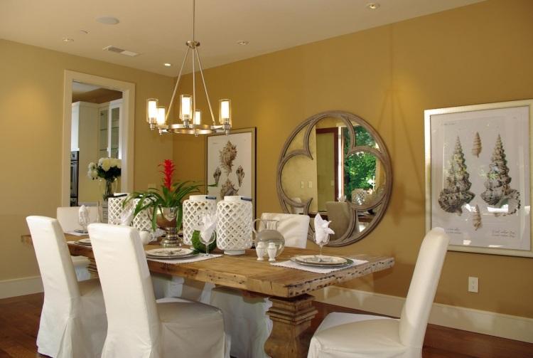 интерьер столовая дизайн фото золотой белый
