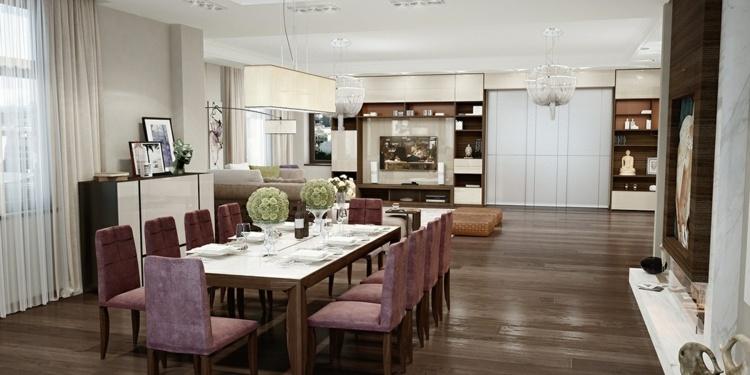 интерьер столовая гостиная дизайн фото современный стиль