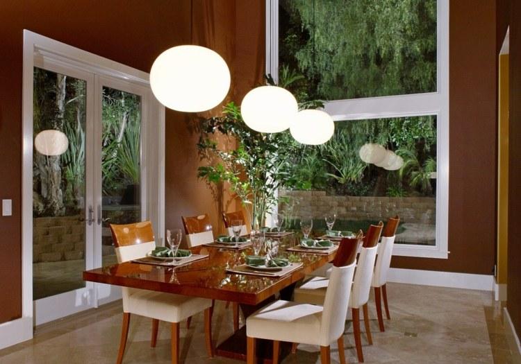 интерьер столовой дизайн фото коричневый частный дом
