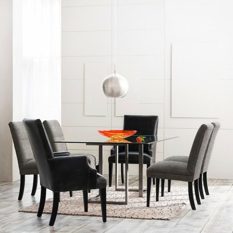 интерьер столовой дизайн фото со стеклянным столом