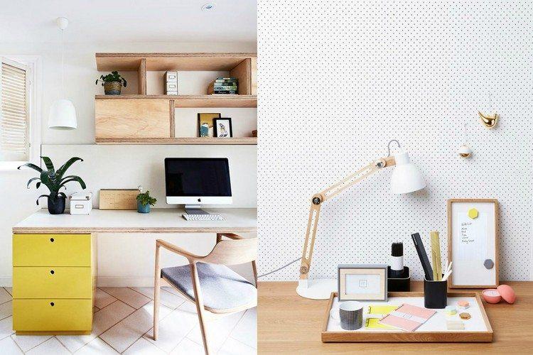 кабинет дизайн интерьер фото светлые тона