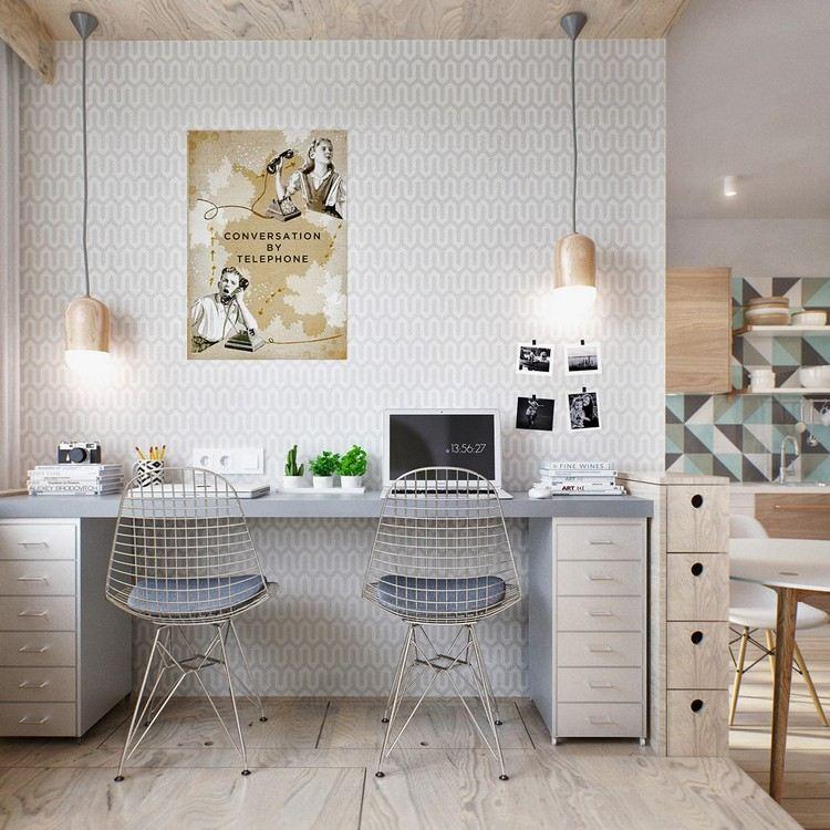 кабинет для дома фото скандинавский стиль