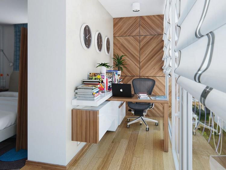 кабинет на балконе рабочая комната фото дизайн интерьер