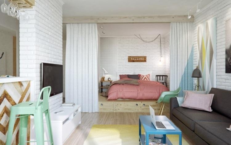 кровать из массива с ящиками фото идеи для маленькой спальни