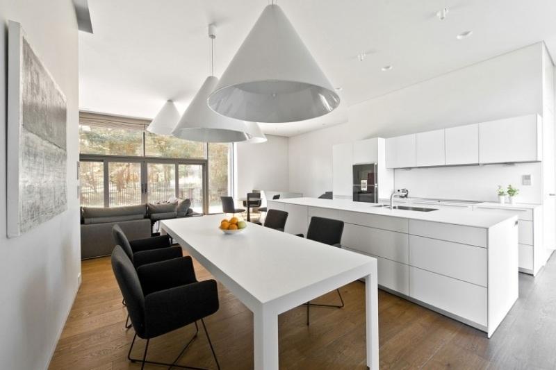 кухня-столовая интерьер в квартире фото