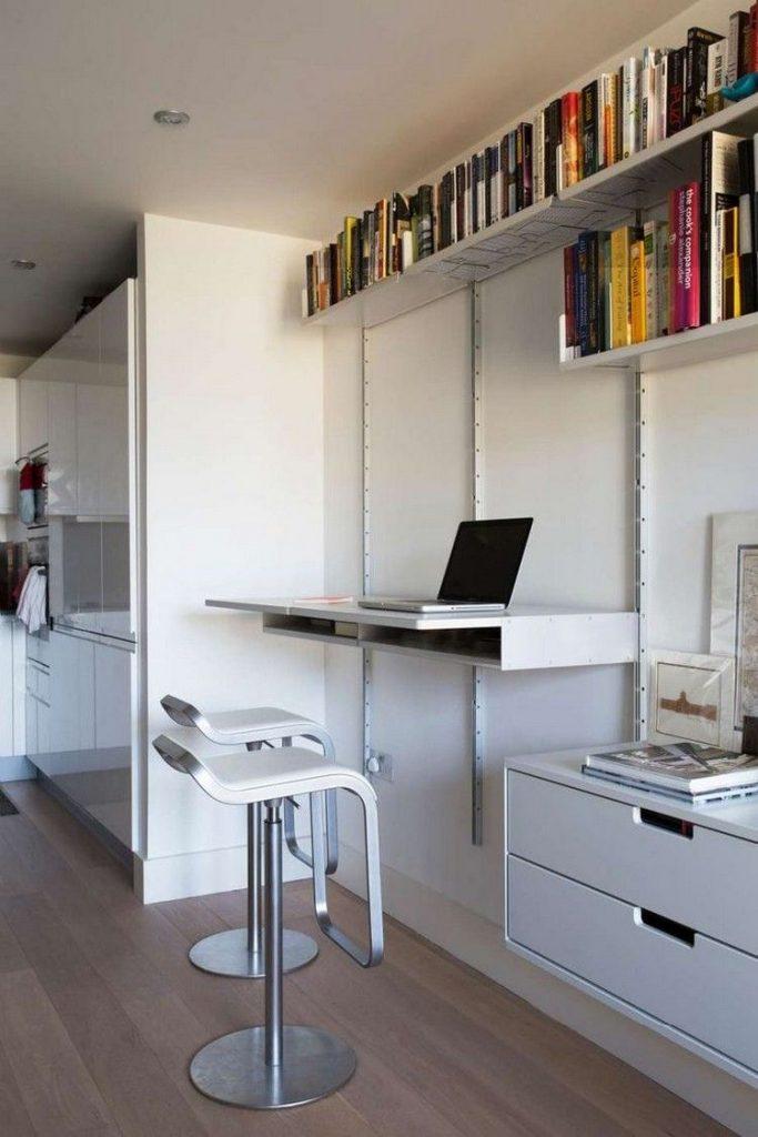 маленькая рабочая комната кабинет фото интерьер дизайн