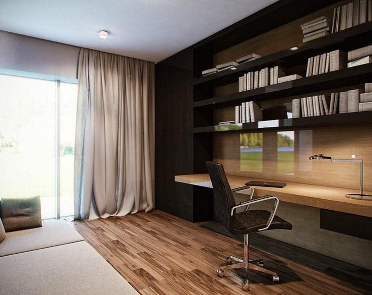стильный интерьер кабинета в квартире фото