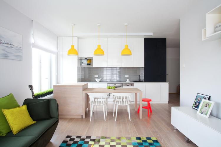 столовая гостиная кухня фото квартира студия современный стиль
