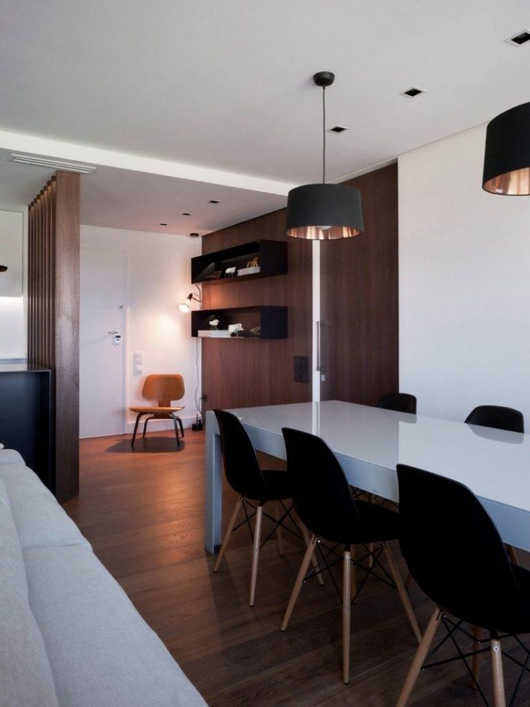 столовая идеи интерьера в квартире фото белый глянцевый стол