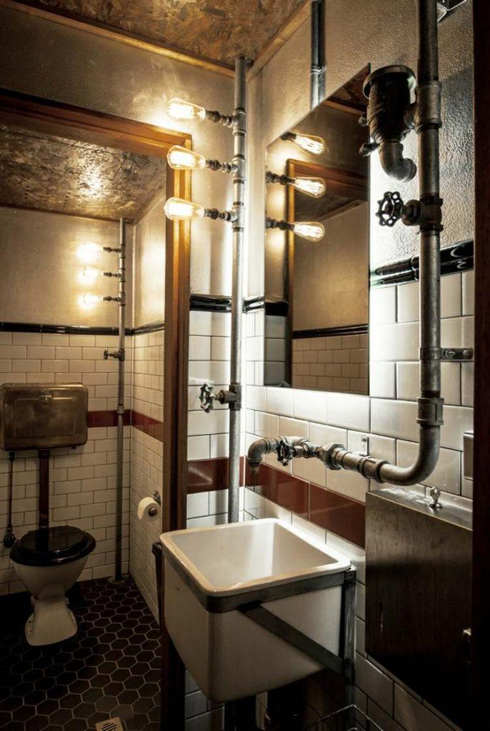 элементы стимпанк интерьер фото туалет