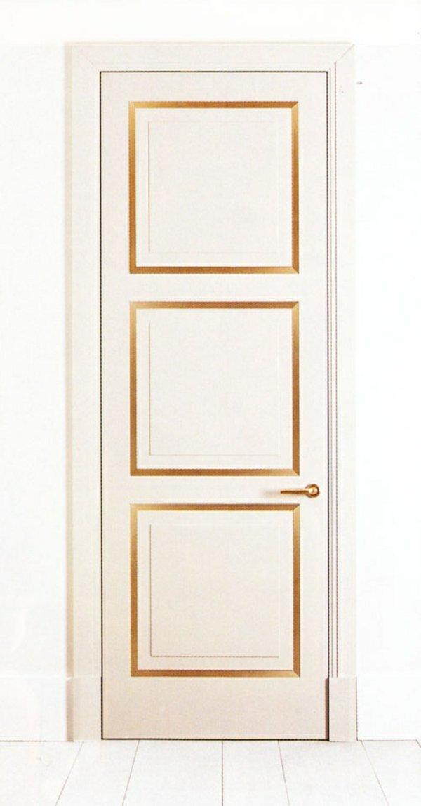 белая межкомнатная дверь с золотом фото своими руками сделать