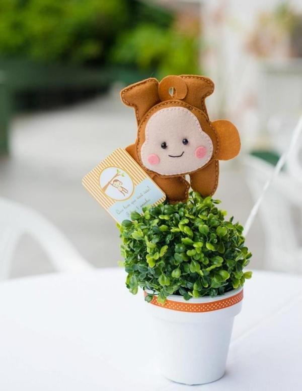 декор оформление детского праздника фото украшение обезьяна еда