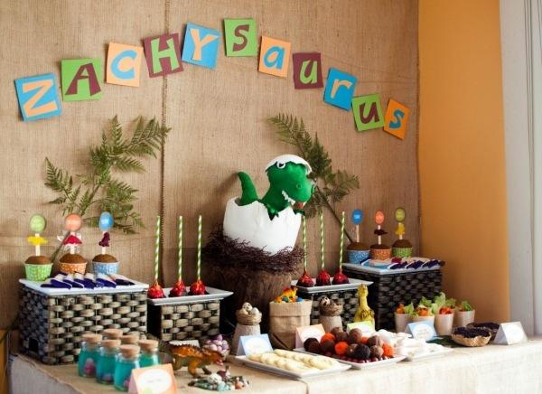 декор оформление детского праздника фото в стиле динозавры украшения идеи
