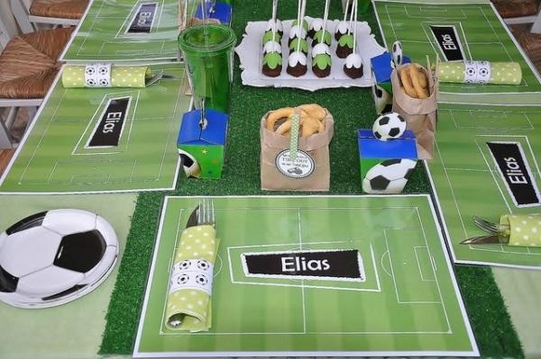 декор оформление детского праздника фото в стиле футбол мальчик сервировка идея