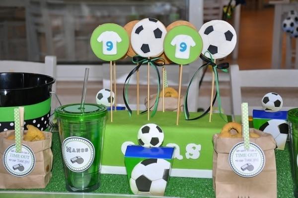 декор оформление детского праздника фото в стиле футбол украшения идеи
