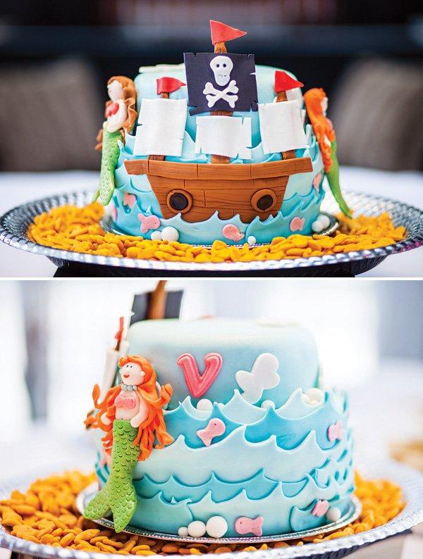 декор оформление детского праздника фото в стиле русалочка принцесса девочка торт