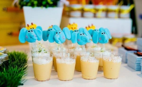 декор оформление детского праздника фото в стиле зоопарк слоны напитки идеи
