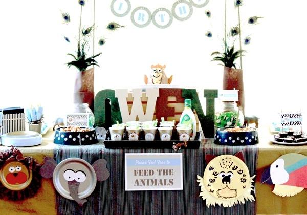 декор оформление детского праздника фото в стиле зоопарк украшения своими руками