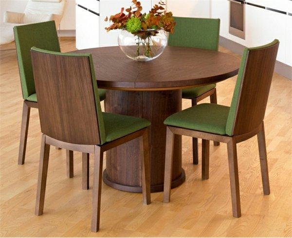 деревянные зеленые стулья обеденные для кухни фото