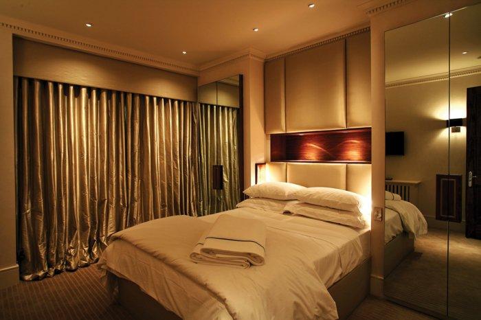 дизайн освещения спальни в интерьере фото