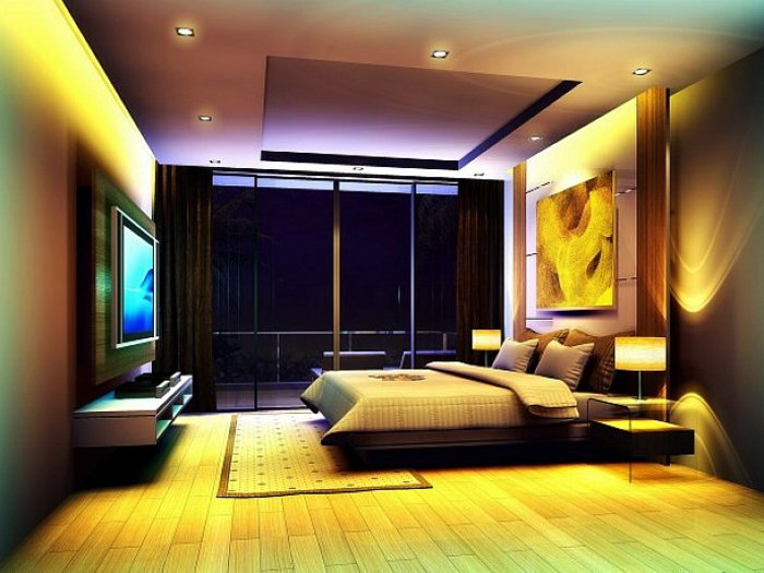 идеи освещения спальни фото