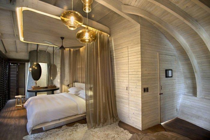 идея дизайна освещения спальни фото