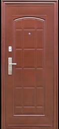 коричневая металлическая дверь в квартиру фото