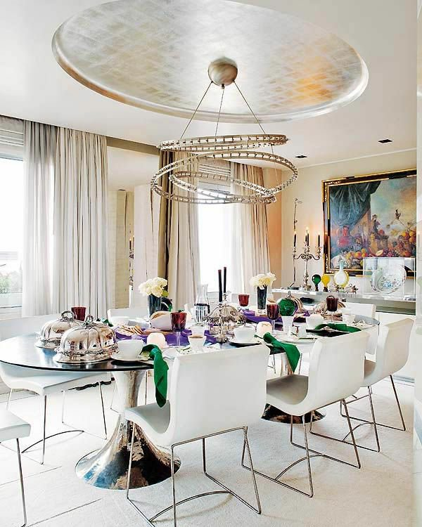 кожаные белые обеденные стулья для кухни фото