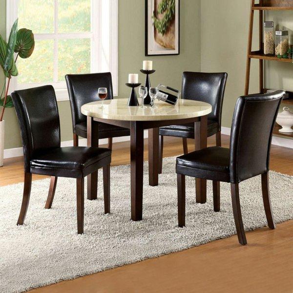 кожаные стулья обеденные для кухни фото черные на деревянных ножках