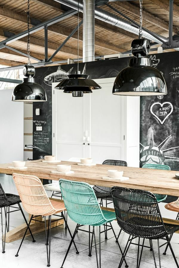 металлические стулья для кухни фото плетеные