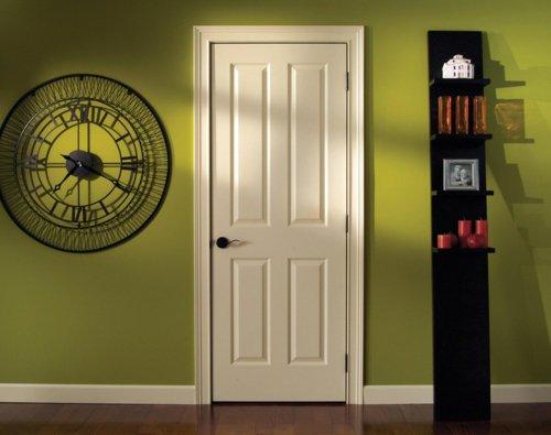 межкомнатная дверь белая стены зеленые цветные фото