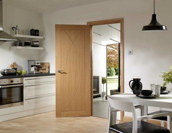 межкомнатная дверь элемент интерьера фото кухня