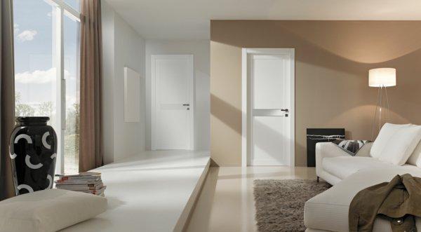 модная межкомнатная дверь белая из дерева фото