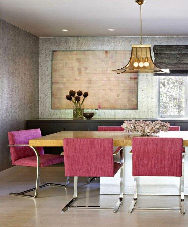 мягкие красные обеденные стулья для кухни фото