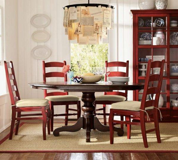 мягкие стулья обеденные для кухни фото красные