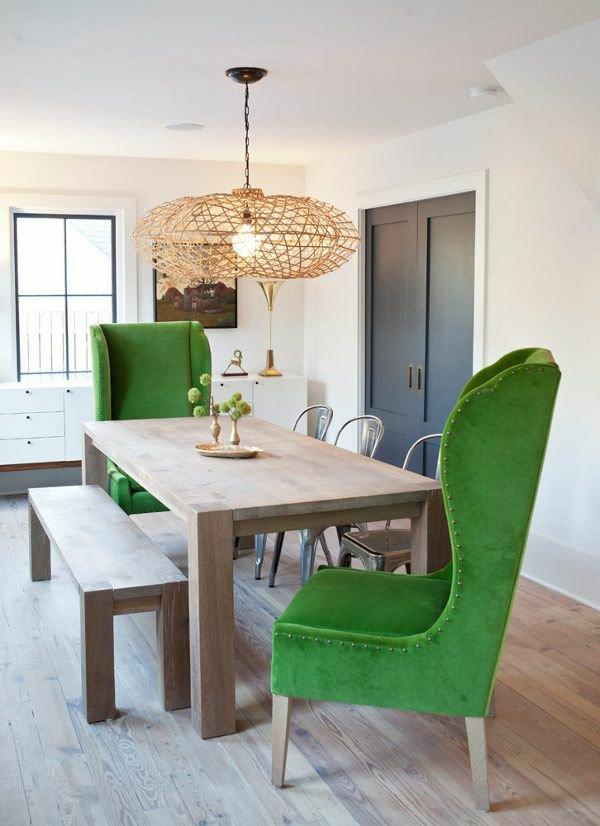 мягкие стулья обеденные для кухни фото кресла зеленые с высокой спинкой
