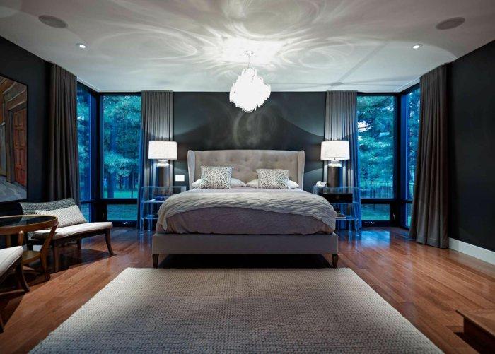 освещение в спальне фото интерьер