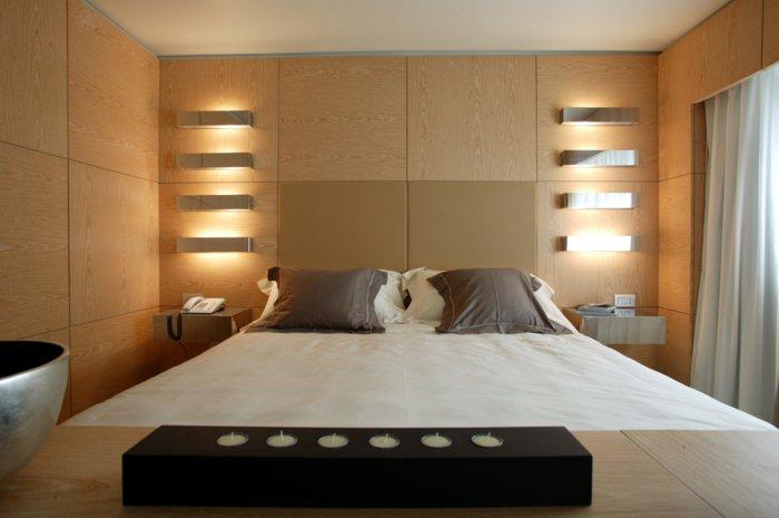 освещение в спальне фото панели